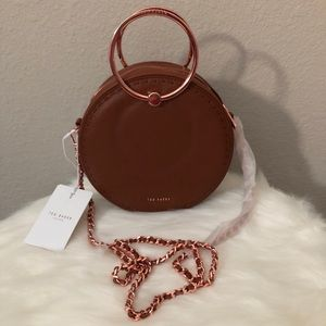 NEW Ted Baker Maddie Circle Leather Crossbody Bag